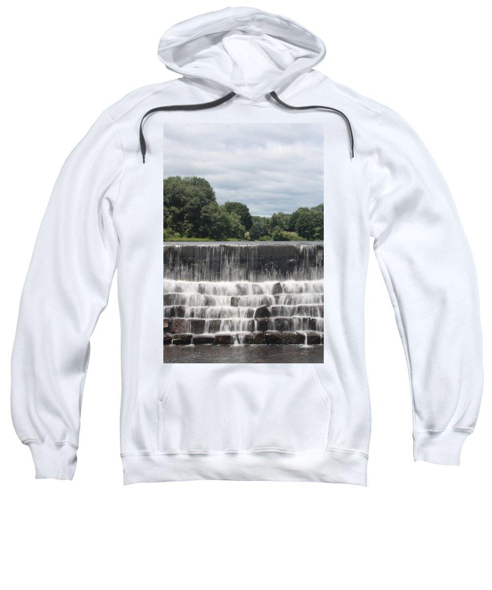 Scenic Sweatshirt featuring the photograph The Waterfall - Harrisville by Erin Rosenblum