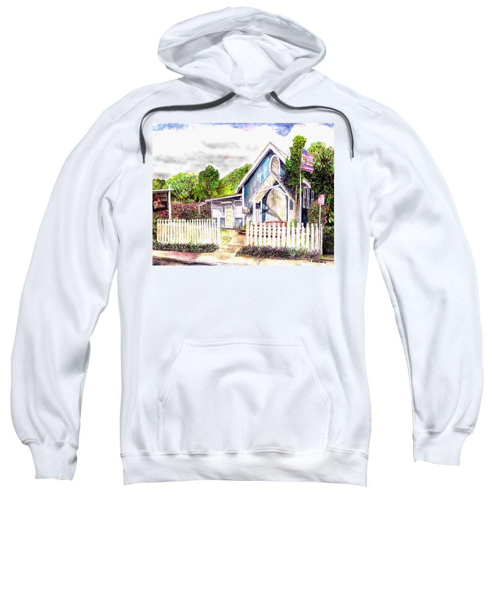 Ywam Maui Sweatshirt featuring the painting The Way Inn by Eric Samuelson
