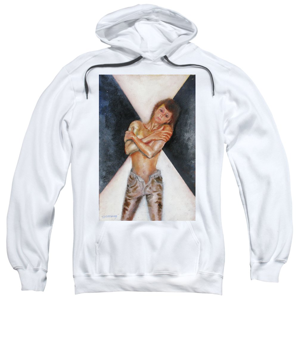 Females Sweatshirt featuring the painting The Way You Make Me Feel by Tom Conway