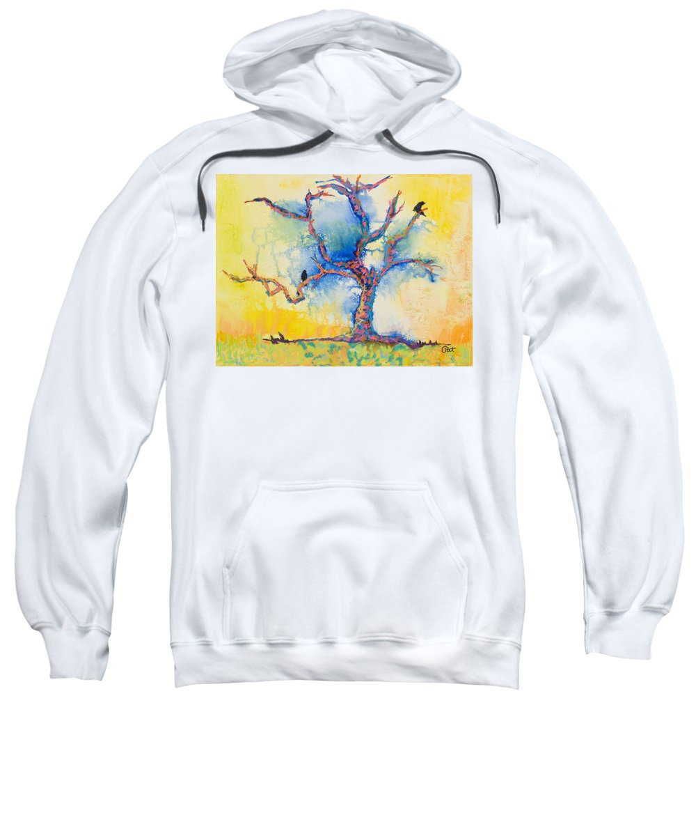 Abstract Painting Sweatshirt featuring the mixed media The Wind Riders by Pat Saunders-White