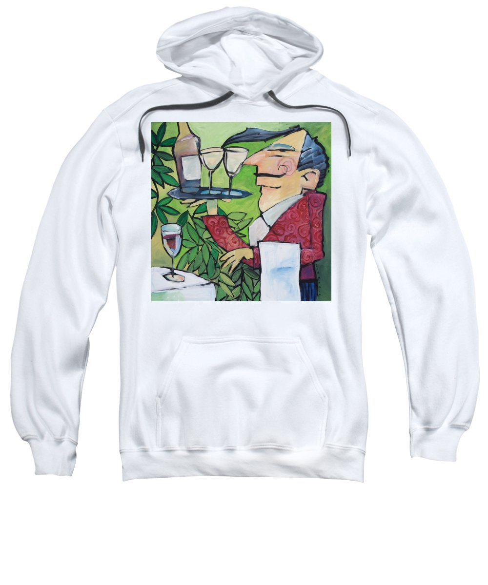 Wine Sweatshirt featuring the painting The Wine Steward by Tim Nyberg