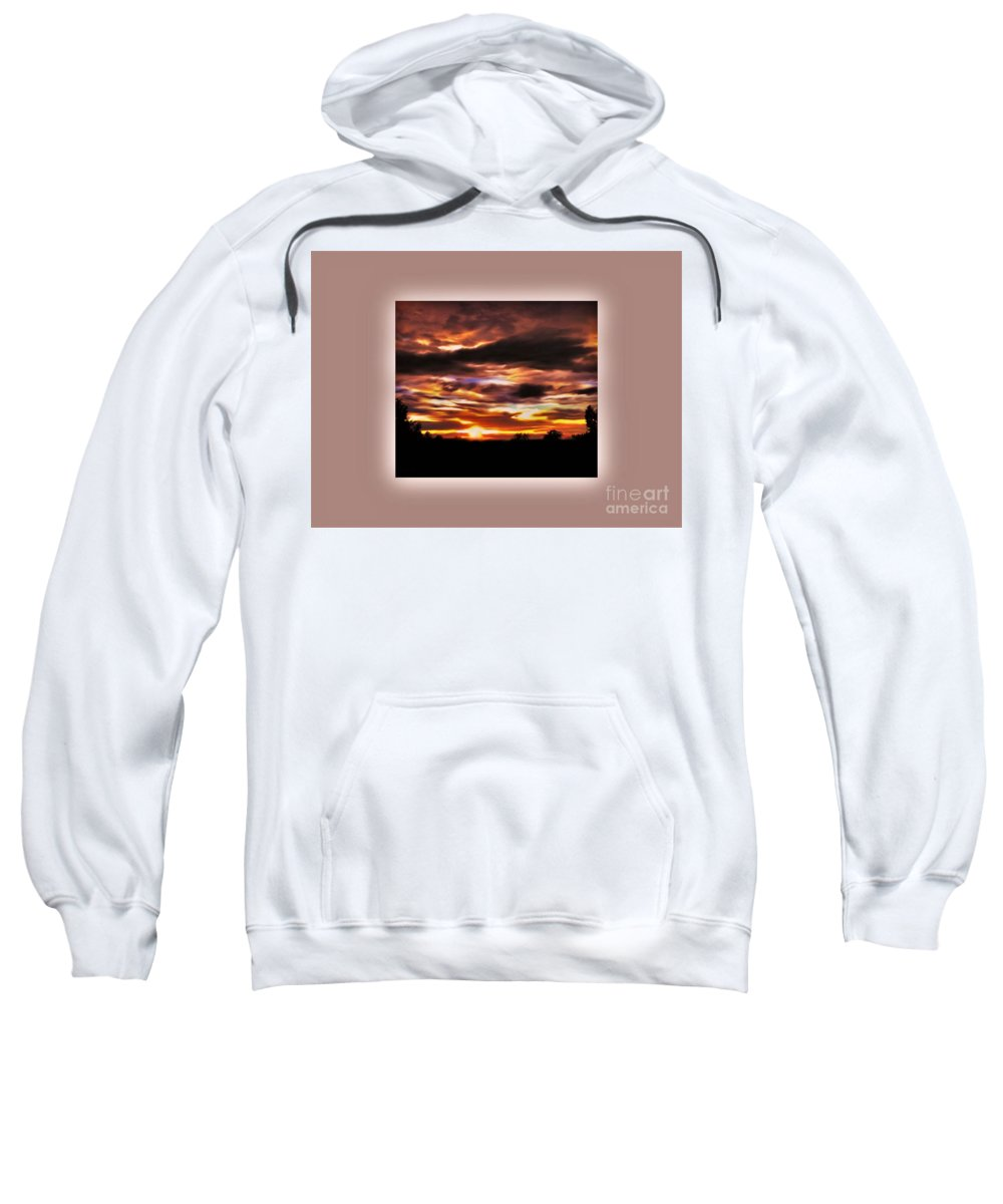 Sunset Sweatshirt featuring the photograph The Wow In A Sunset by Debra Lynch