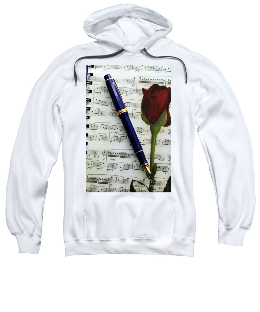 Clay Sweatshirt featuring the photograph The Writers Journal by Clayton Bruster