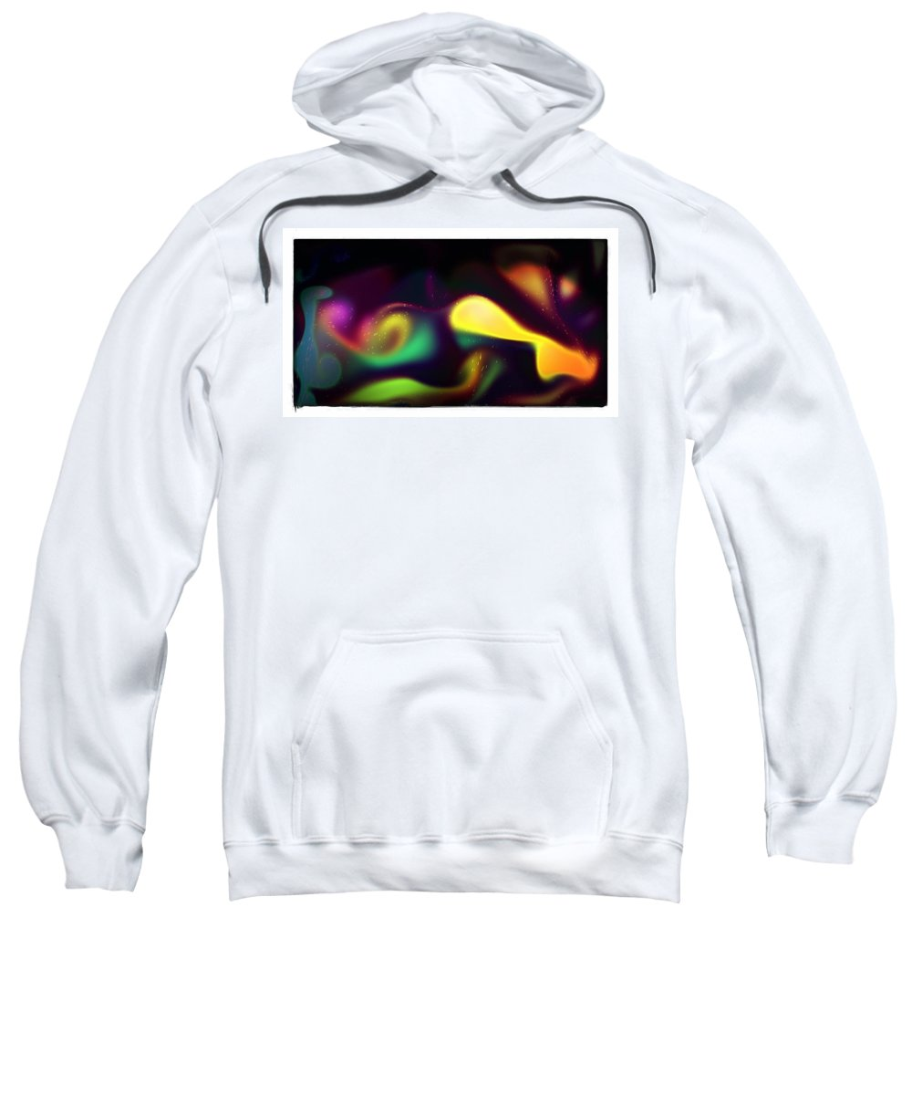 The Yellow Stocking Sweatshirt featuring the digital art The Yellow Stocking by Blue Doves