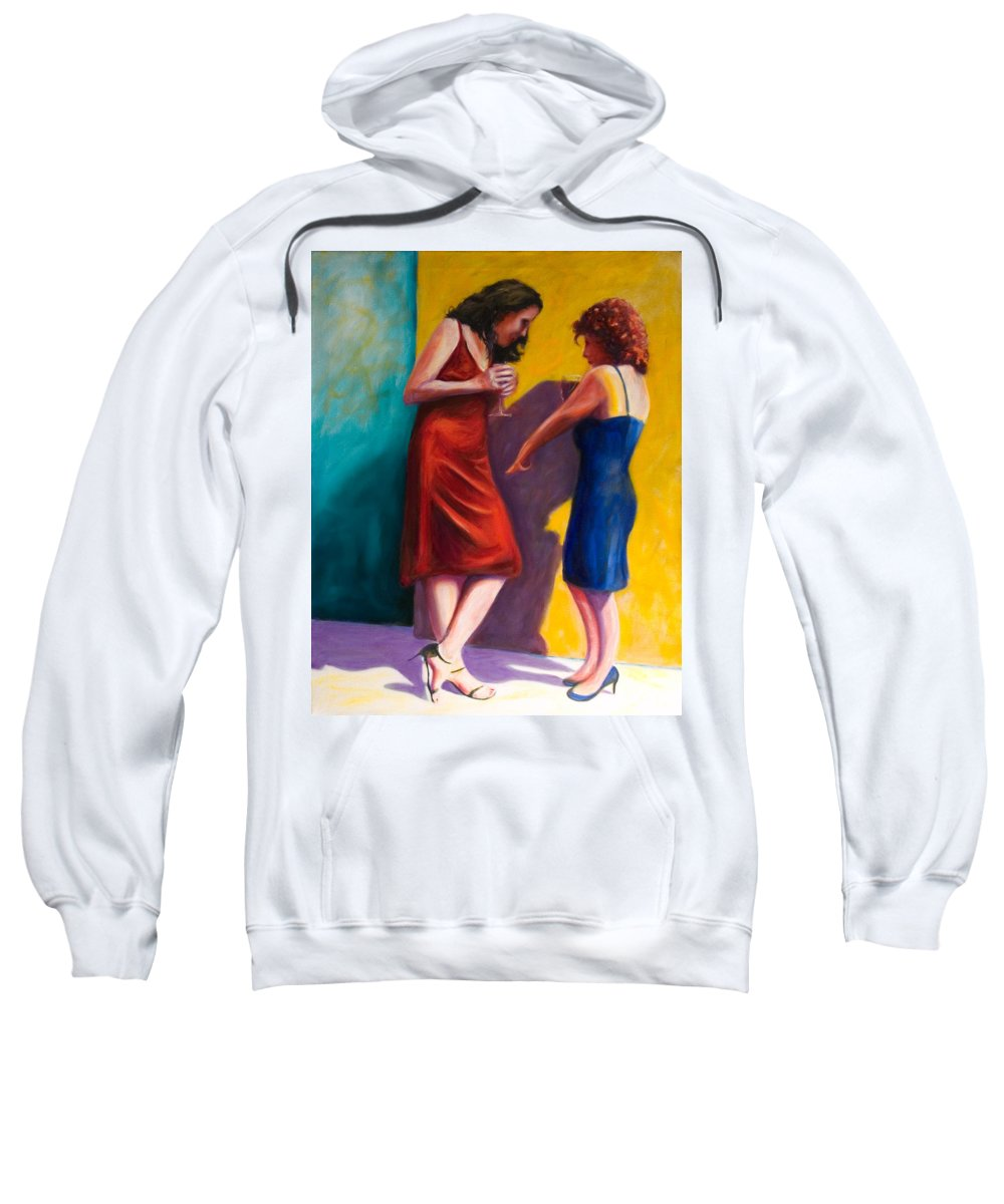 Figurative Sweatshirt featuring the painting There by Shannon Grissom
