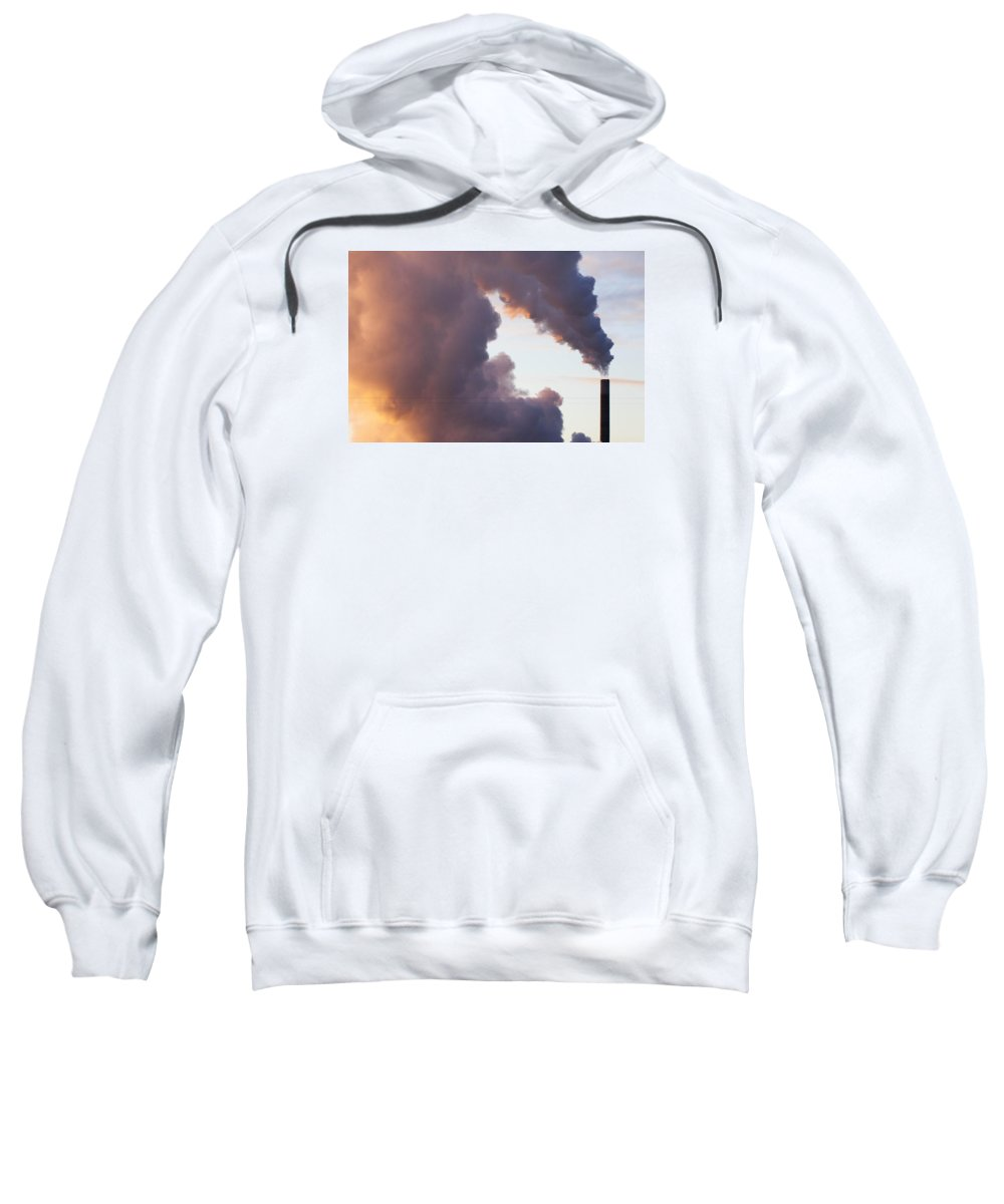 Smokestack Sweatshirt featuring the photograph There's Smoke And Then There's S M O K E by Stephen Schwiesow
