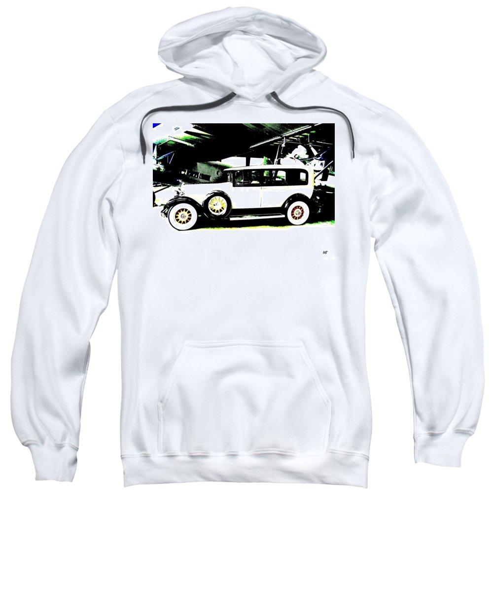Packard Sweatshirt featuring the digital art Thirties Packard Limo by Will Borden