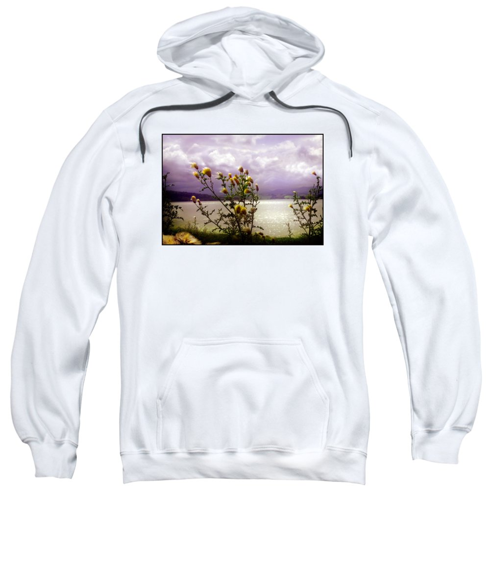 Thistle Sweatshirt featuring the photograph Thistledown Time by Mal Bray