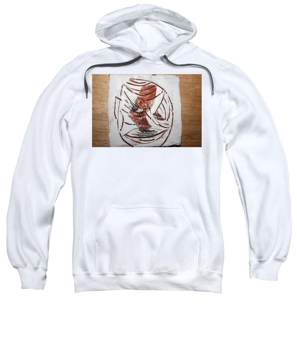Jesus Sweatshirt featuring the ceramic art Thomas -tile by Gloria Ssali