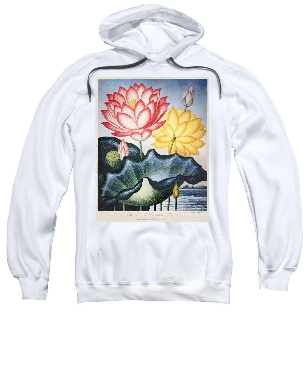1804 Sweatshirt featuring the photograph Thornton: Lotus Flower by Granger