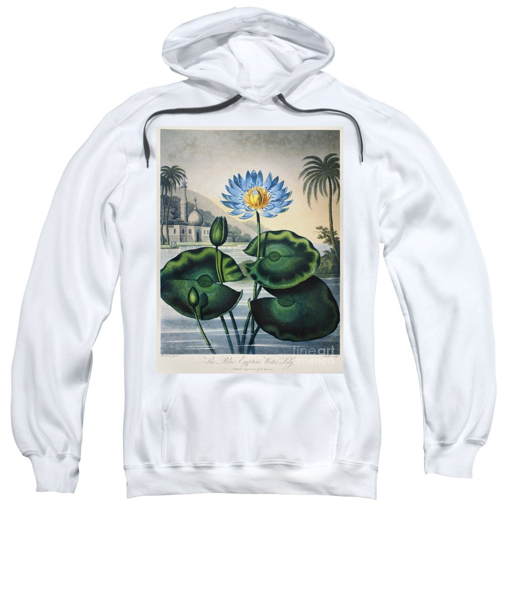 1804 Sweatshirt featuring the photograph Thornton: Water Lily by Granger