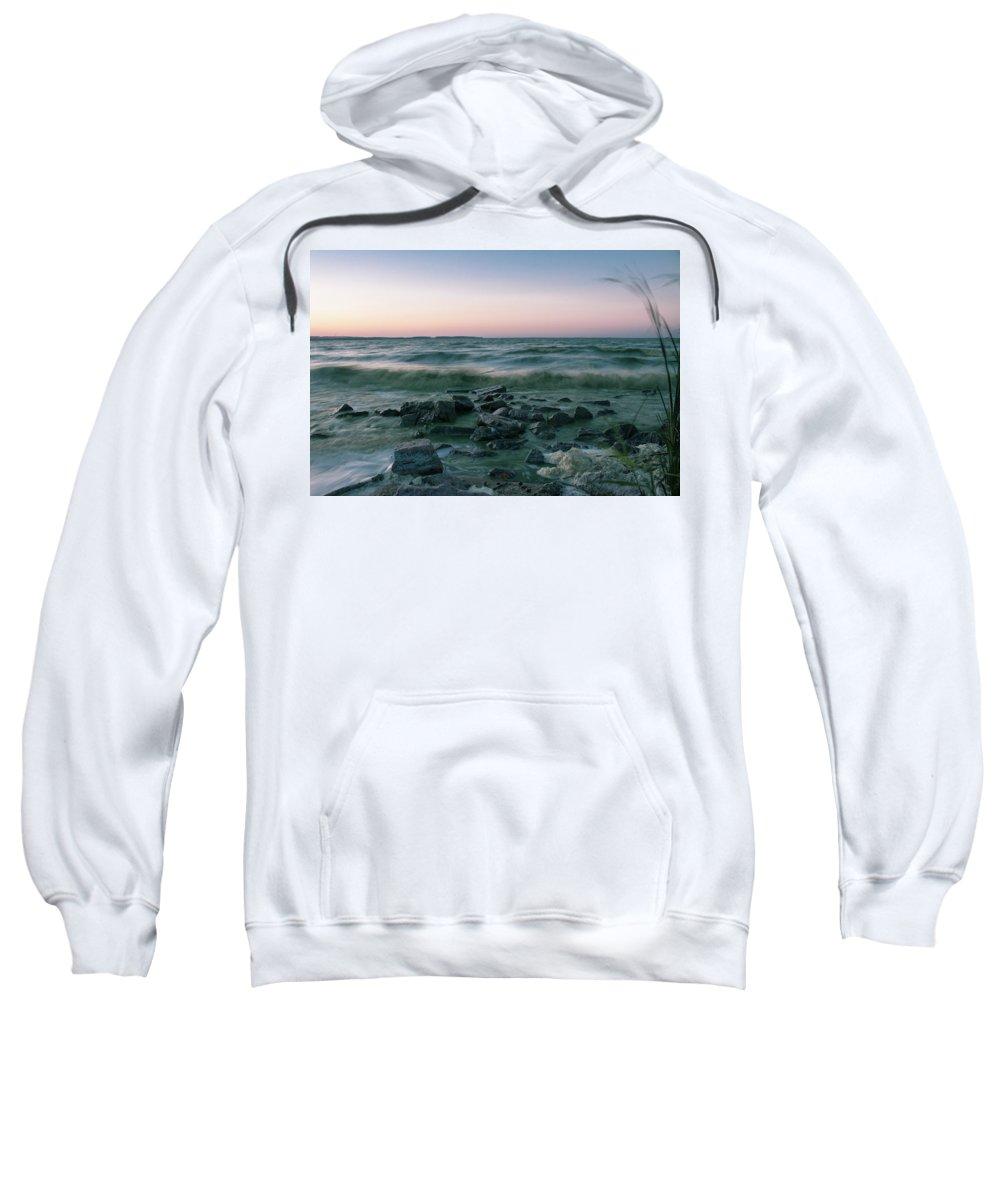 Sea Sweatshirt featuring the photograph Thoughtful River by Natalia Ochkalo