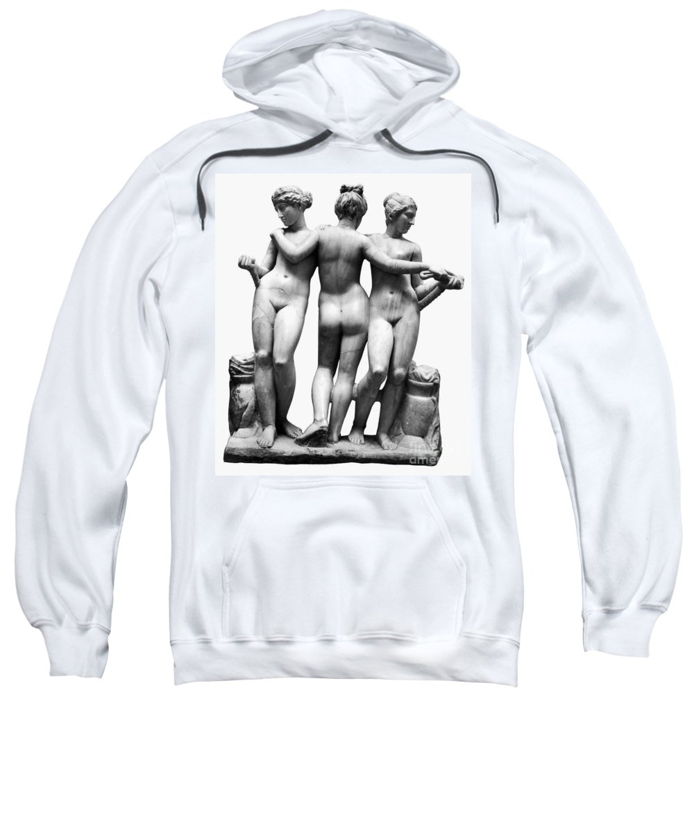 3rd Century B. C. Sweatshirt featuring the painting Three Graces by Granger
