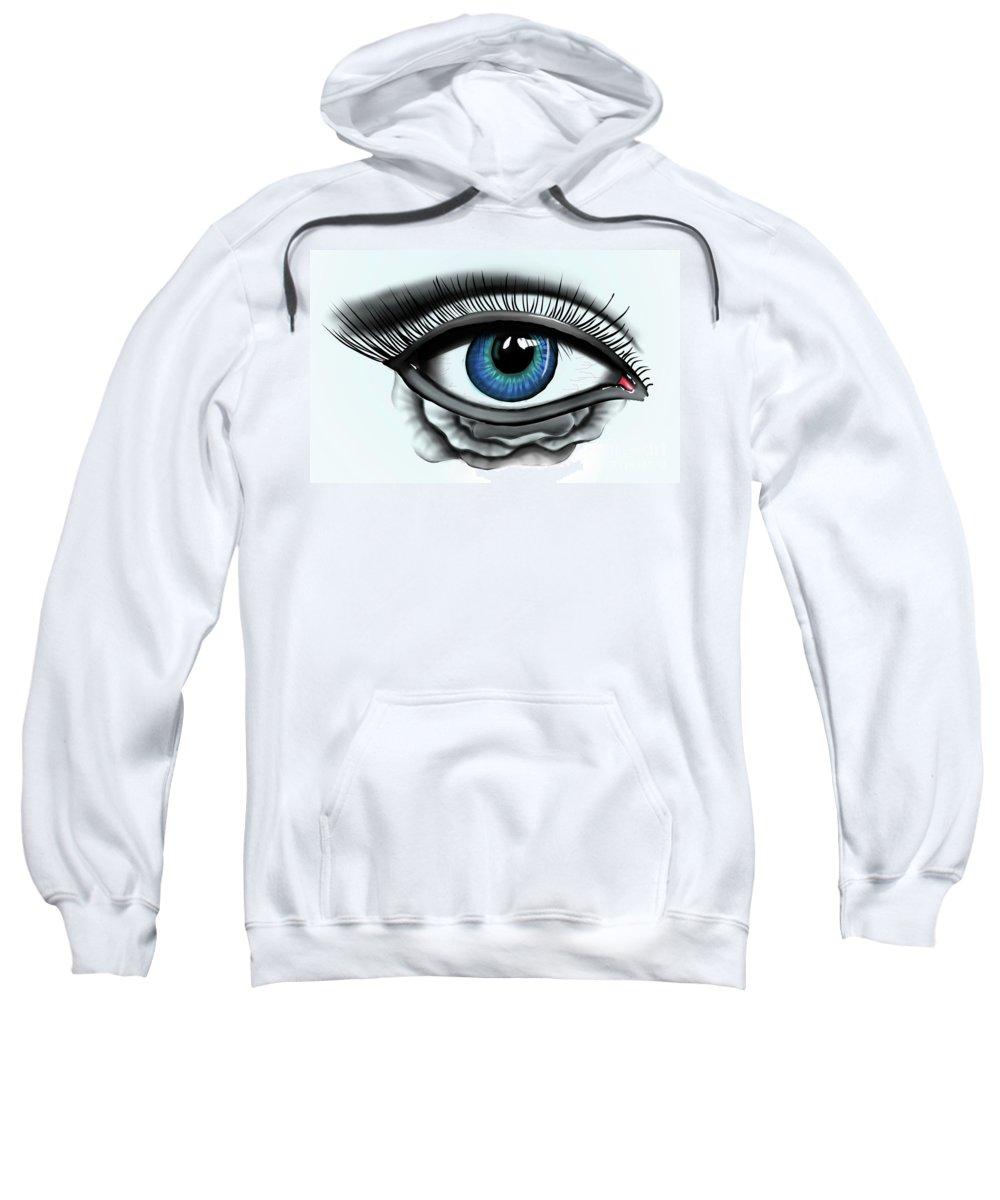 Eye Sweatshirt featuring the digital art Through My Eye by Nicholas Jex