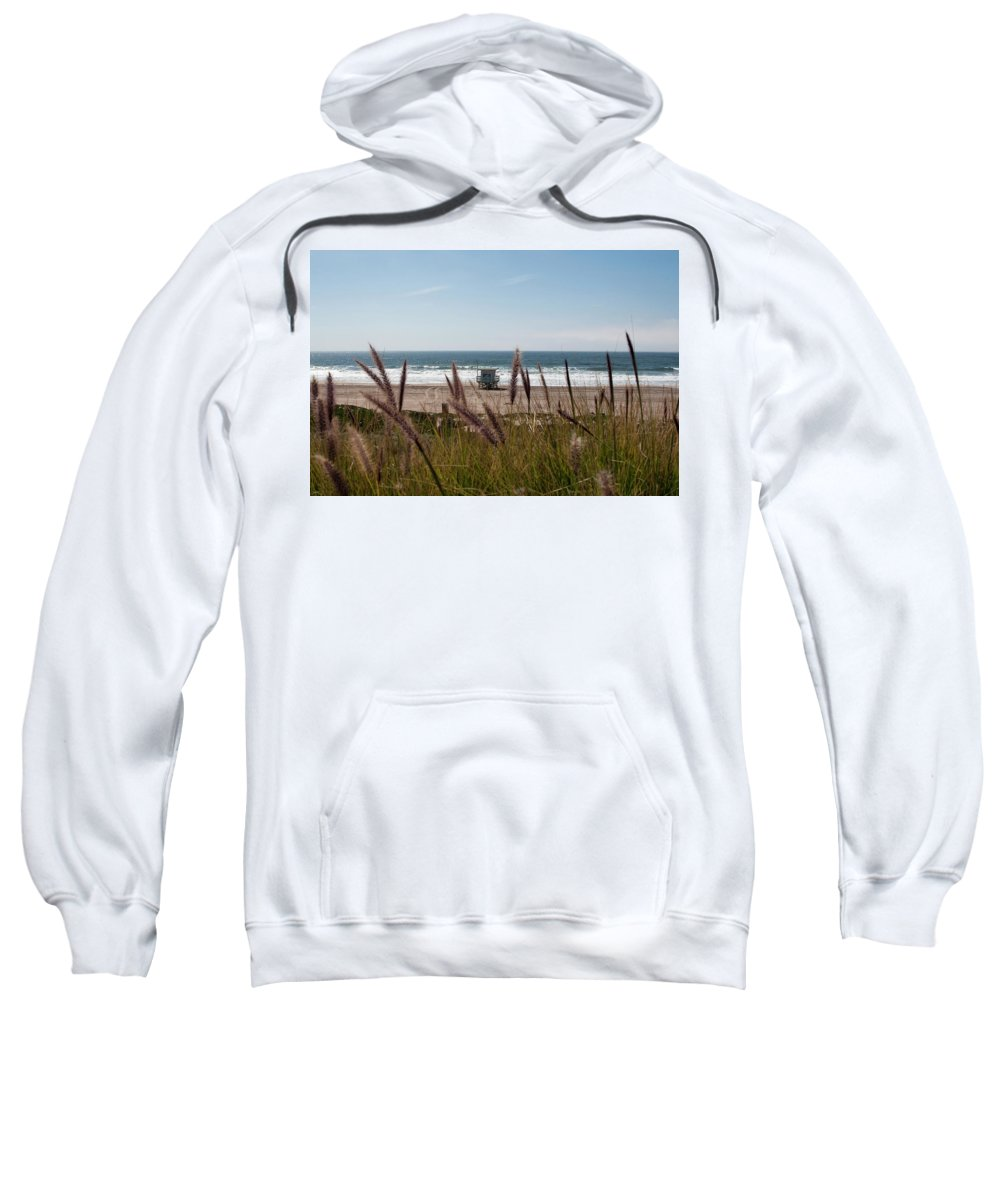 The Strand Sweatshirt featuring the photograph Through The Reeds by Lorraine Devon Wilke