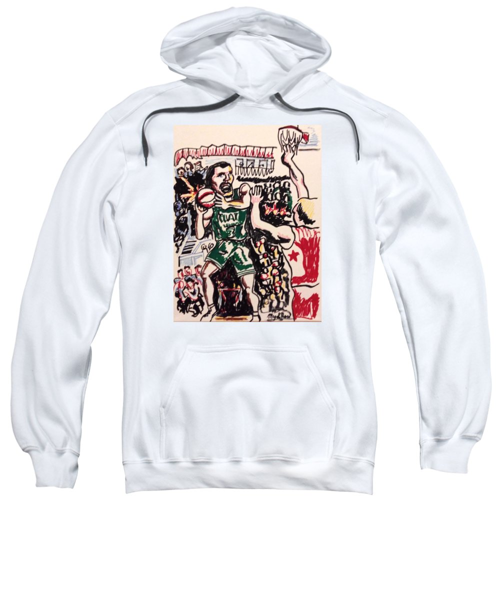 Basketball Sweatshirt featuring the drawing Tiempo Limite by Miguel Romani