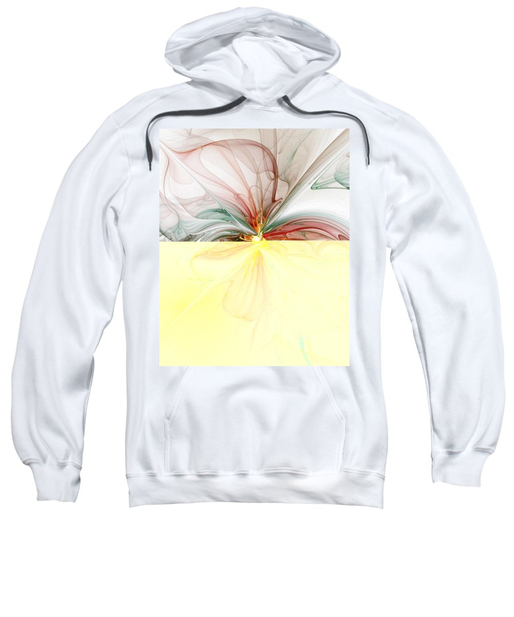 Digital Art Sweatshirt featuring the digital art Tiger Lily by Amanda Moore