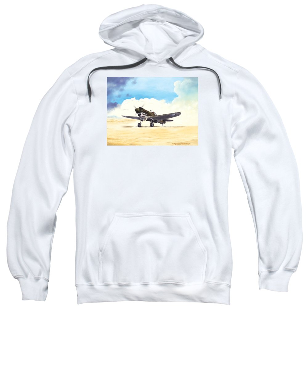 Aviation Sweatshirt featuring the painting Tiger Scramble by Marc Stewart