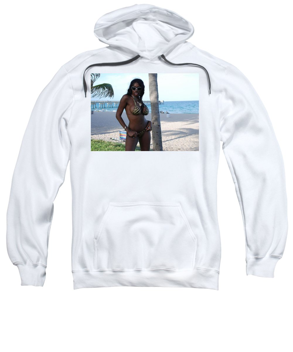 Sand Sweatshirt featuring the photograph Tiger Stripes by Rob Hans