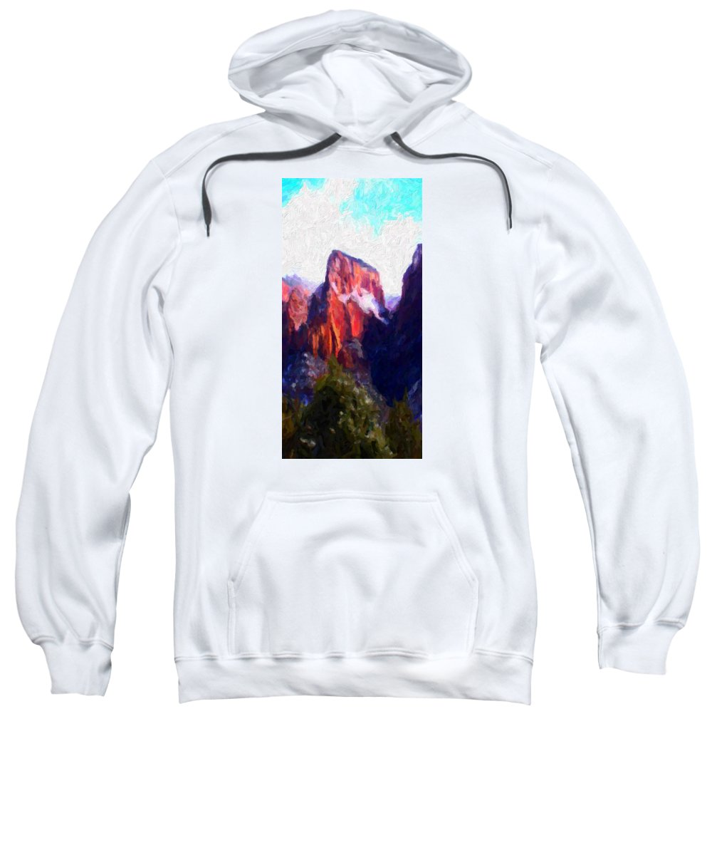 Digital Sweatshirt featuring the digital art Timber Top by David Hansen