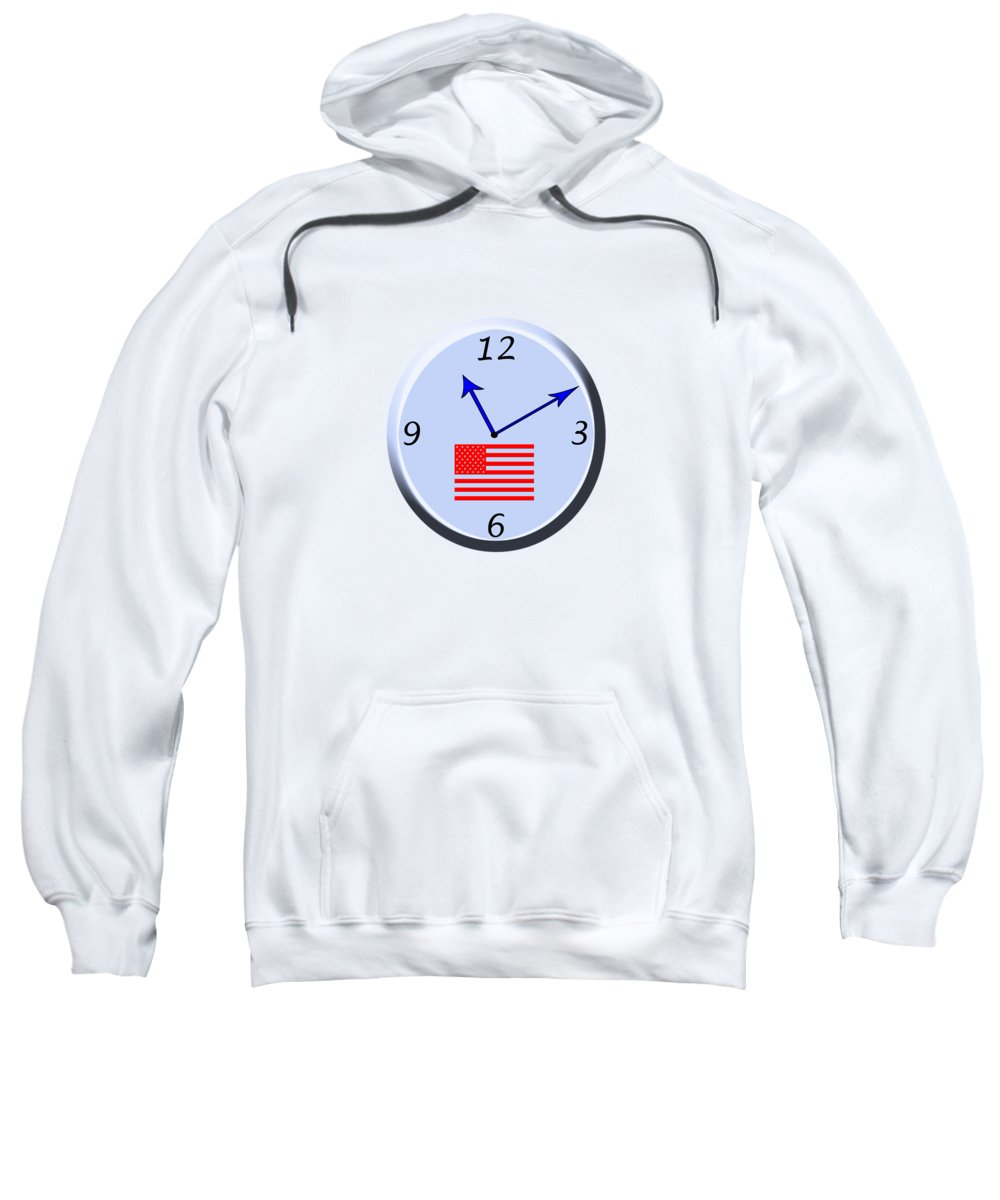 women's Fashion girl's Fashion men's Fashion Fashion us Flag Patriotism Sweatshirt featuring the photograph Time For Patriotism by Bill Owen