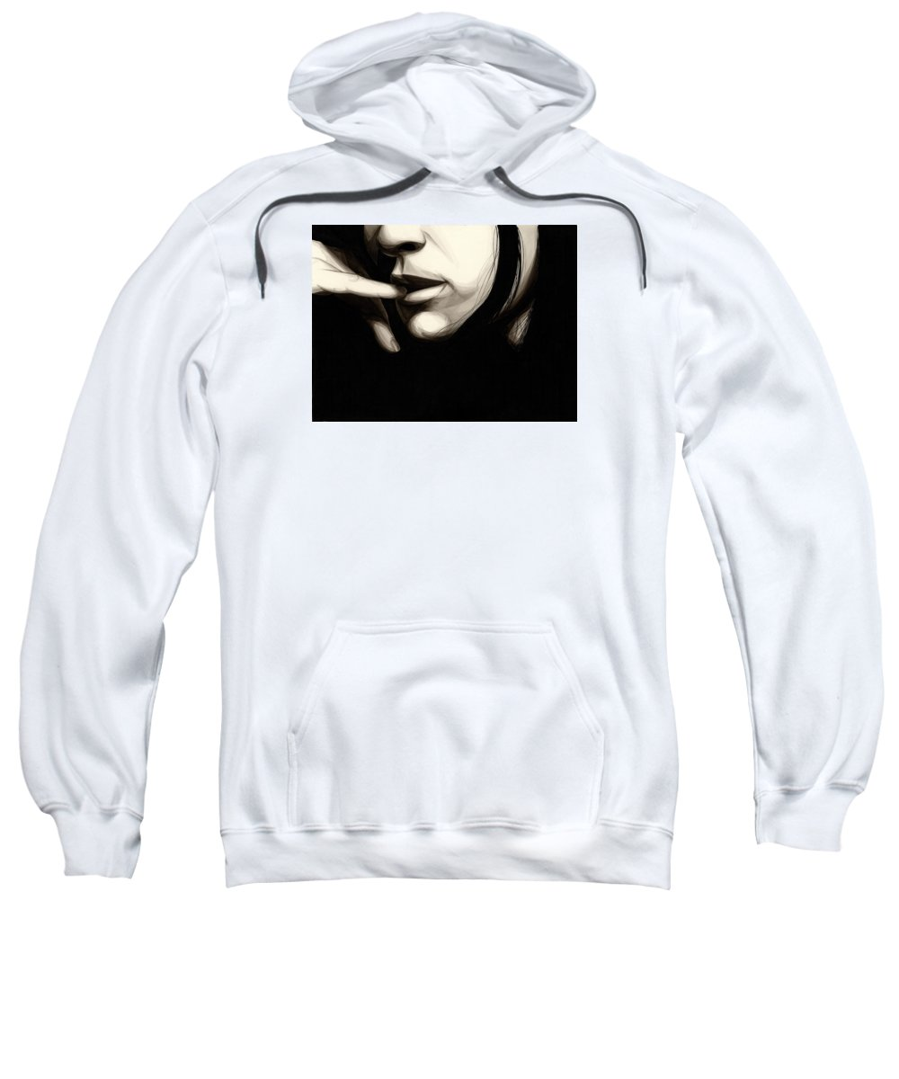 Ink Sweatshirt featuring the painting Timid by James Taylor