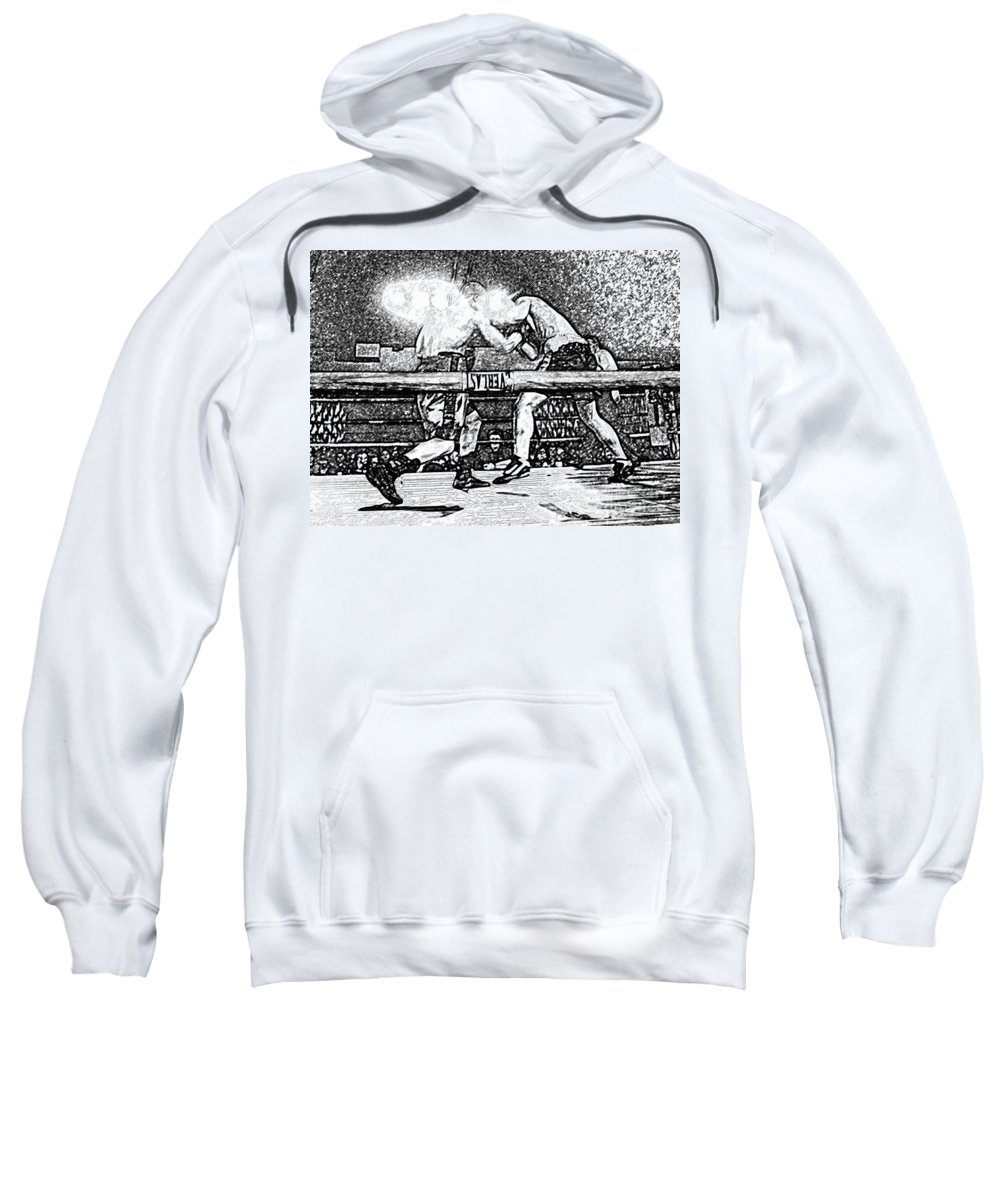 Boxing Sweatshirt featuring the photograph Titans Of The Ring by David Lee Thompson