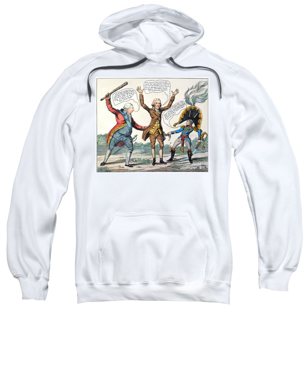 1807 Sweatshirt featuring the photograph T.jefferson Cartoon, 1809 by Granger