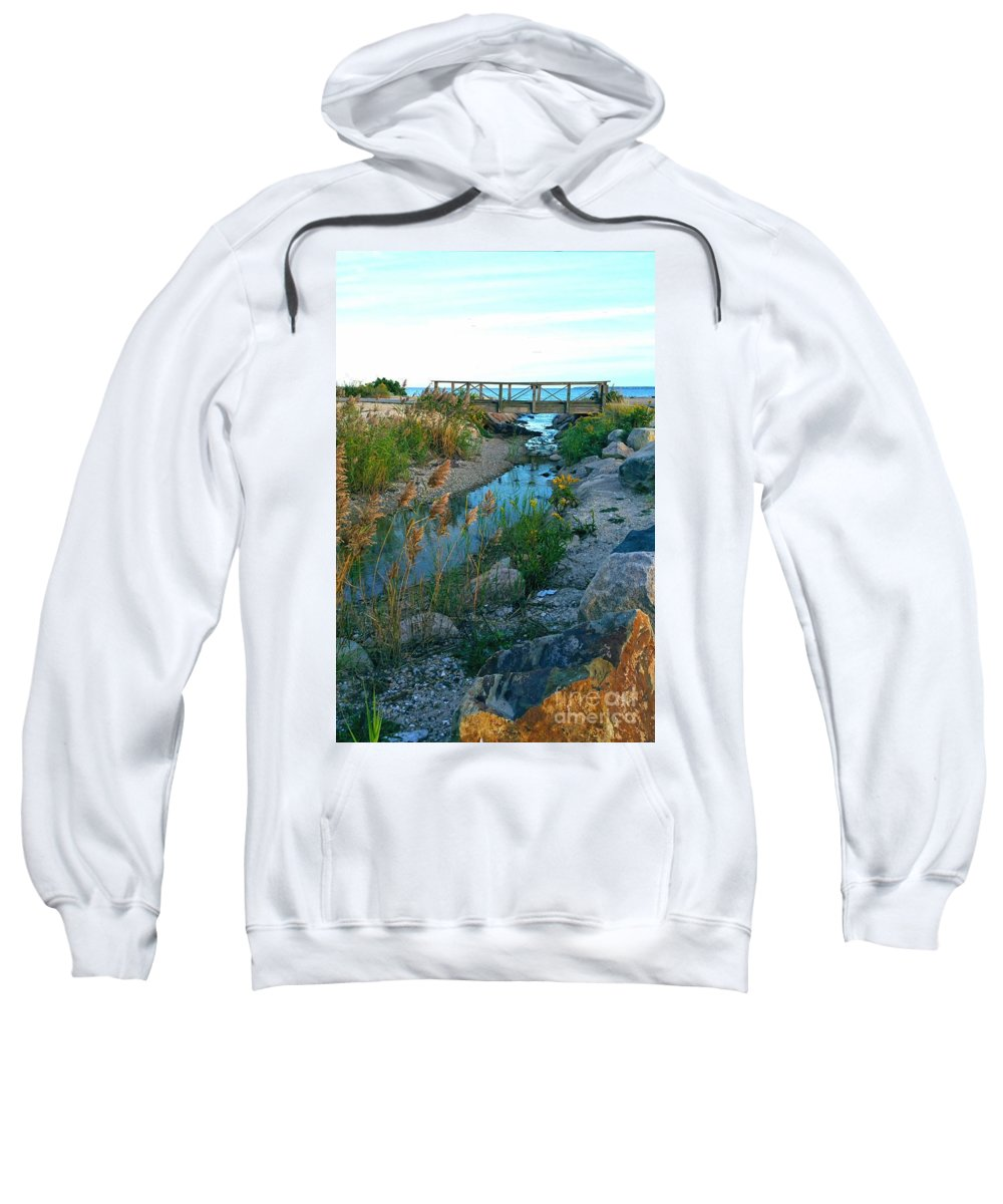 Cape Cod Sweatshirt featuring the photograph To The Sea by Christine Chepeleff
