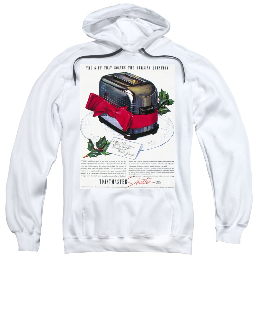 1937 Sweatshirt featuring the photograph Toaster Ad, 1937 by Granger