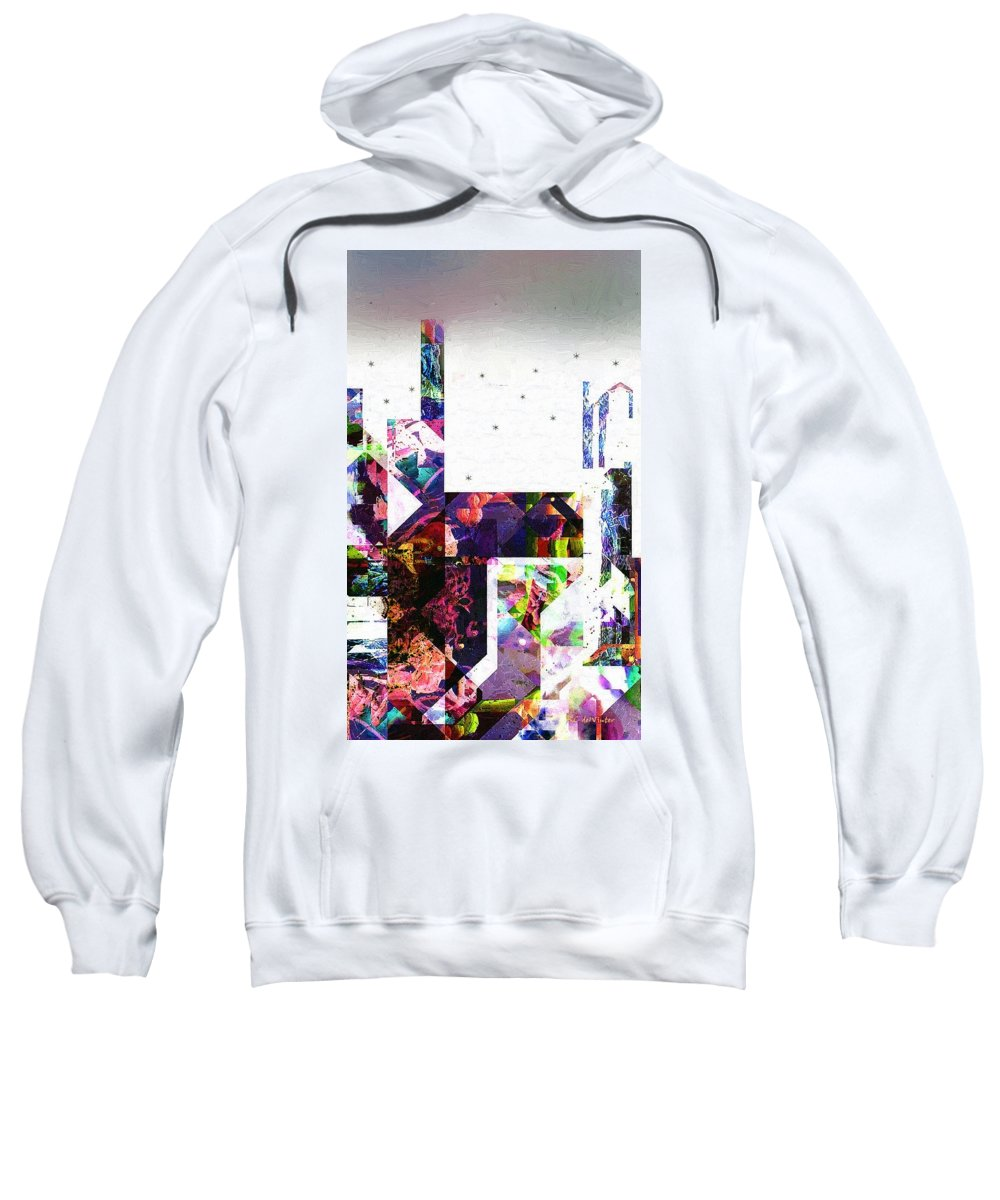 Abstract Sweatshirt featuring the painting Tokyo Dawn by RC DeWinter