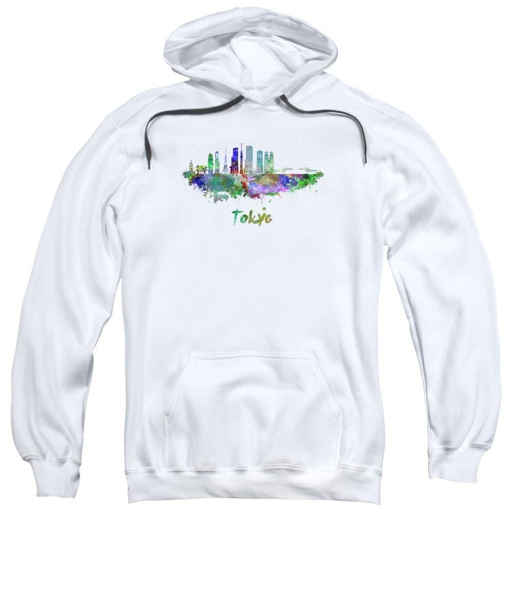 Tokyo Skyline Hooded Sweatshirts T-Shirts