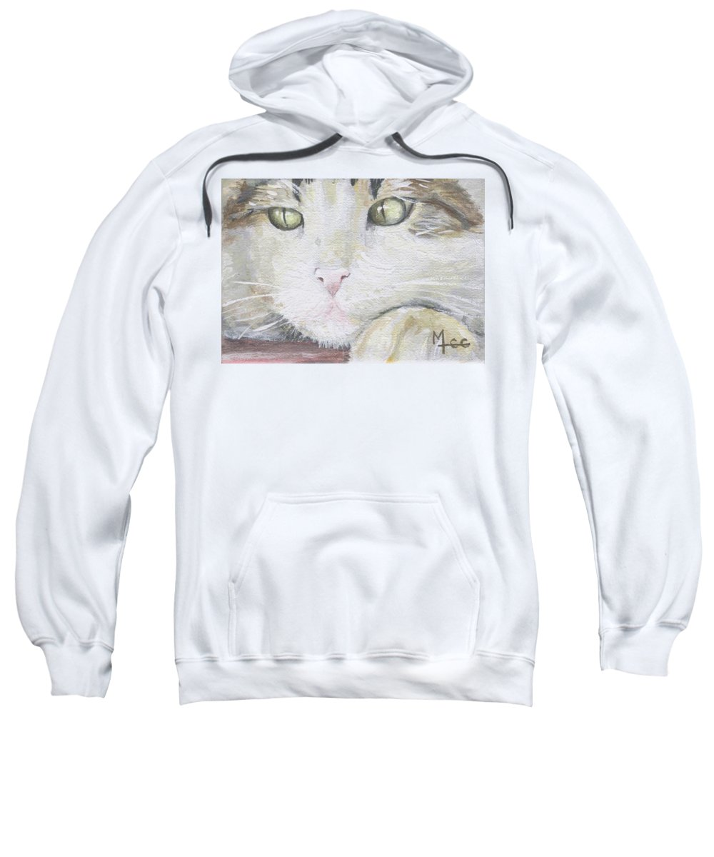 Charity Sweatshirt featuring the painting Tommy by Mary-Lee Sanders