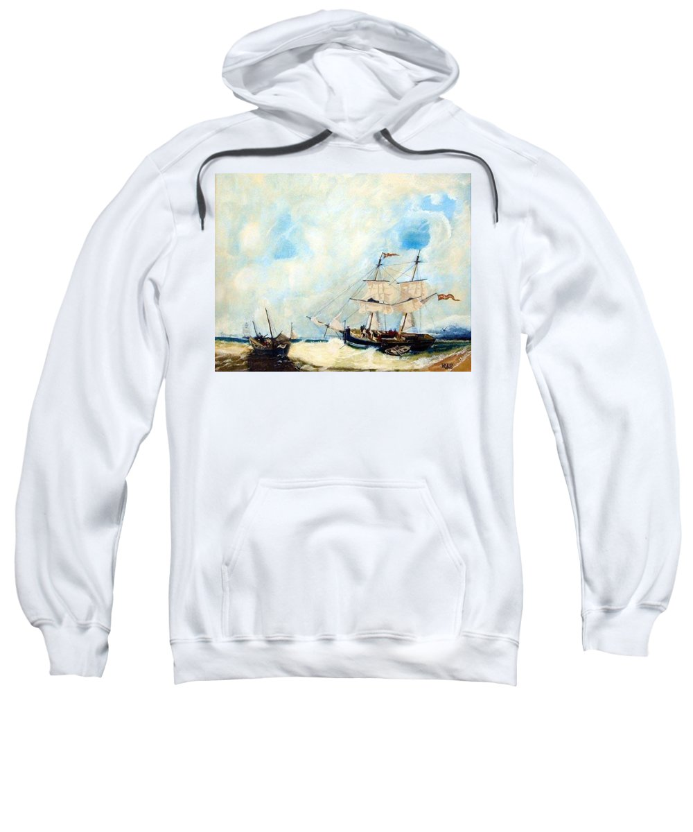 Sailing Sweatshirt featuring the painting Too Close To Shore by Richard Le Page