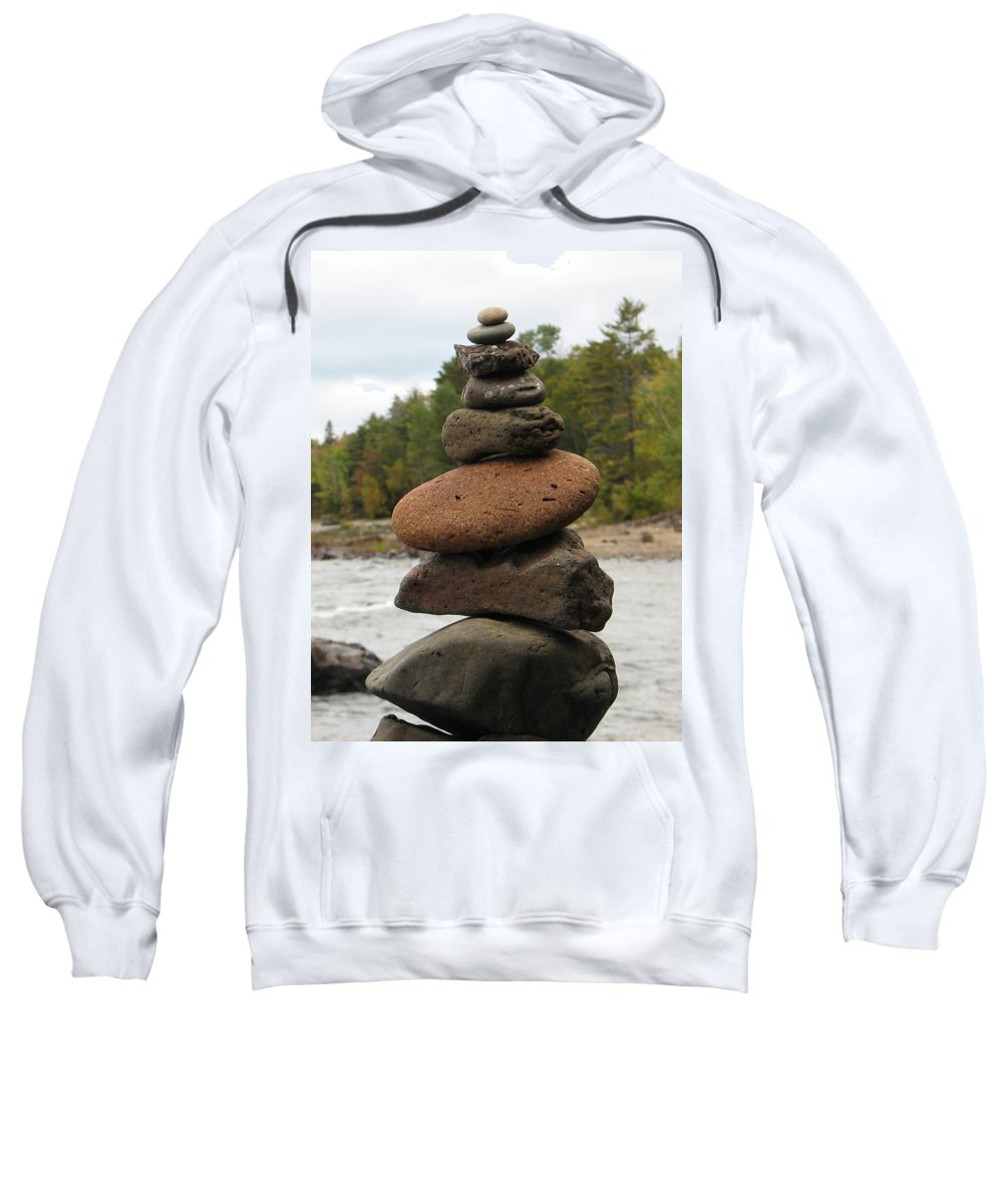 Rocks Sweatshirt featuring the photograph Top Of The Stack by Kelly Mezzapelle