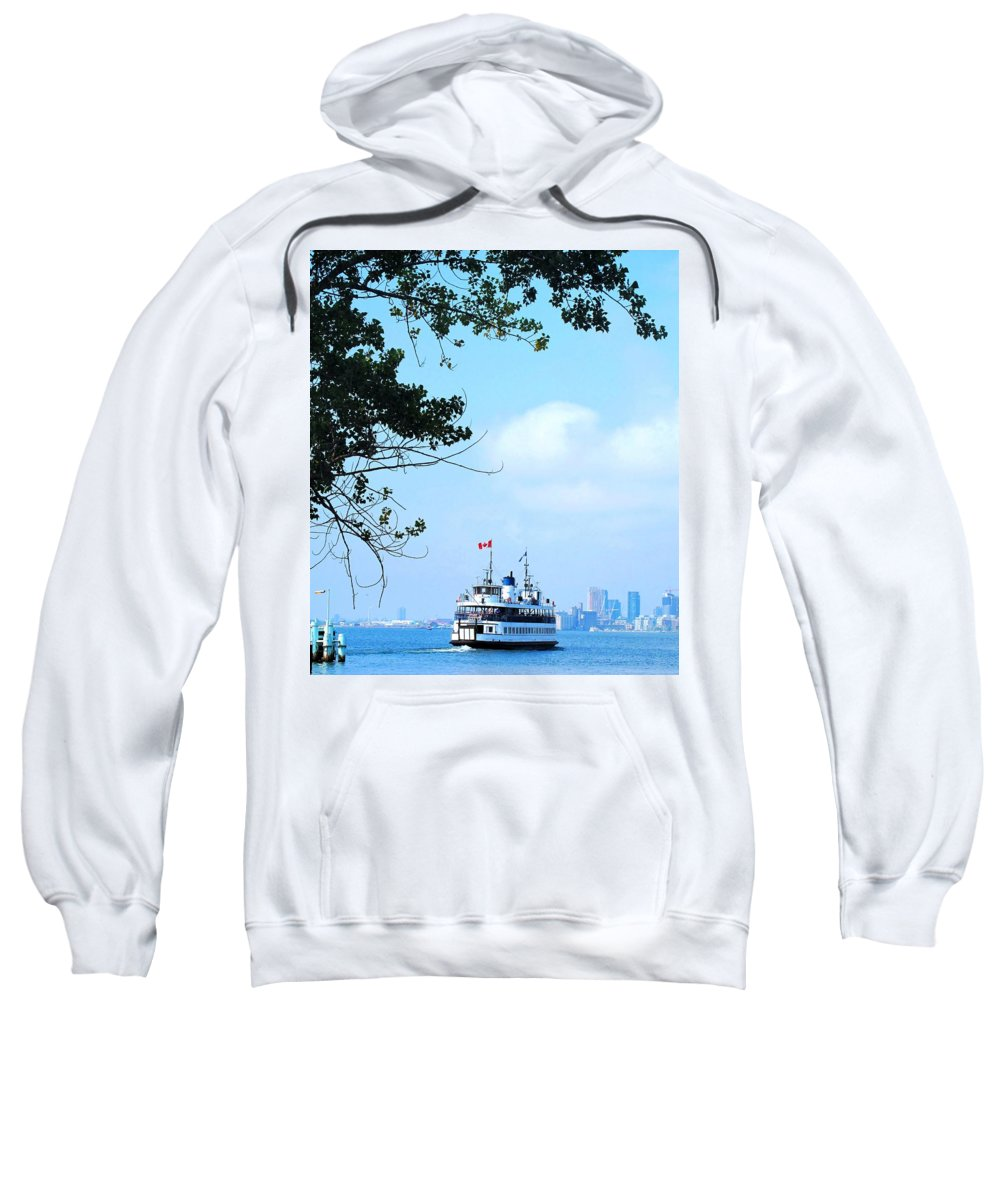 Ferry Sweatshirt featuring the photograph Toronto Island Ferry by Ian MacDonald