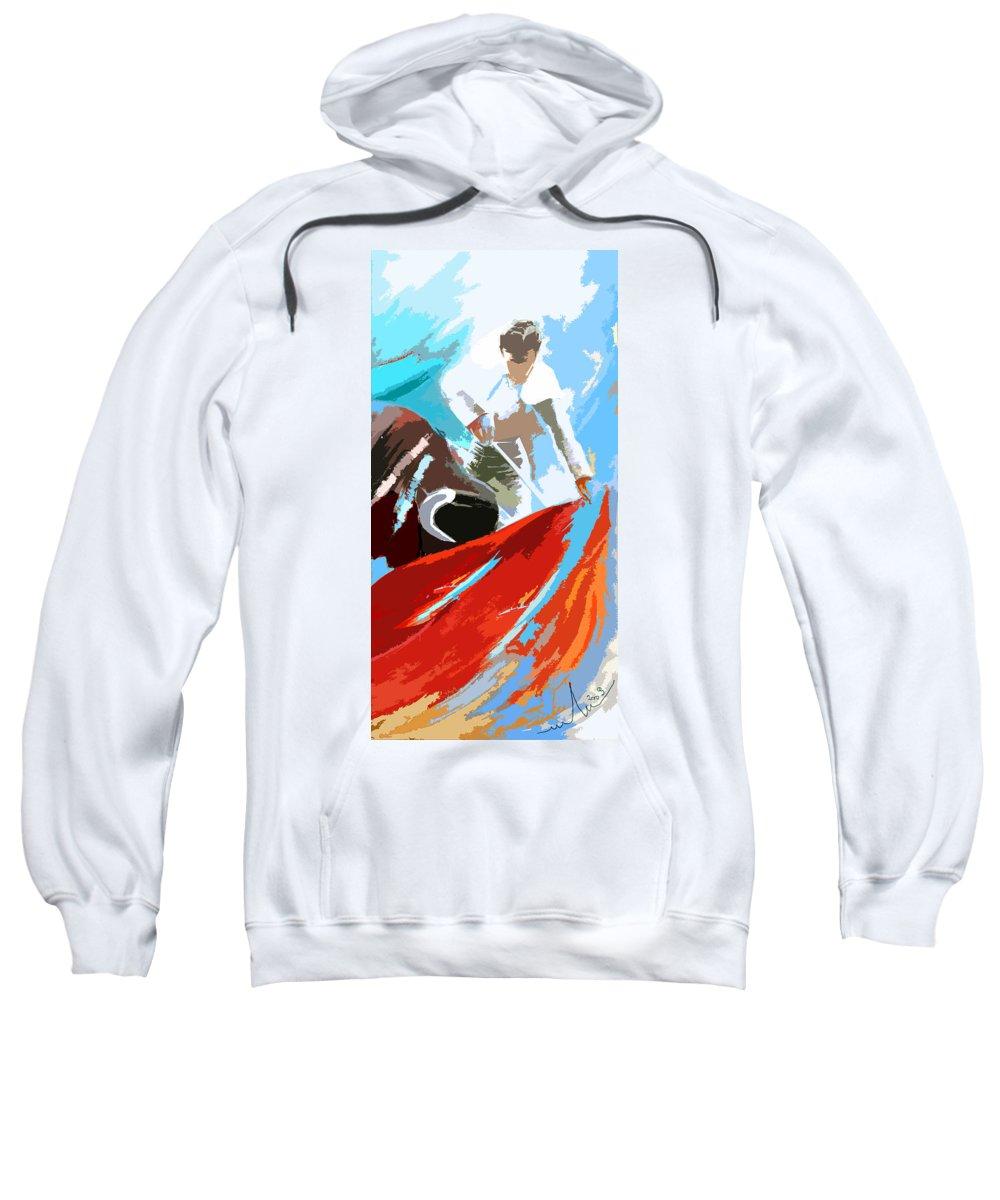 Animals Sweatshirt featuring the painting Toroscape 32 by Miki De Goodaboom
