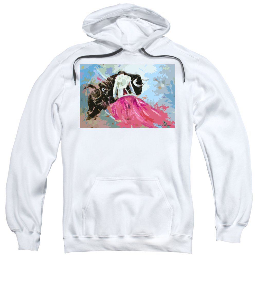 Animals Sweatshirt featuring the painting Toroscape 34 by Miki De Goodaboom