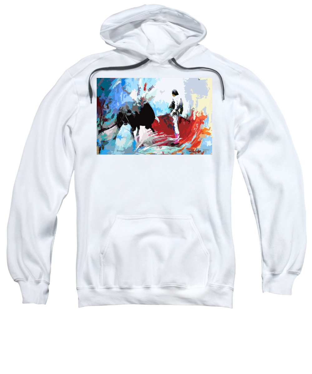 Animals Sweatshirt featuring the painting Toroscape 35 by Miki De Goodaboom