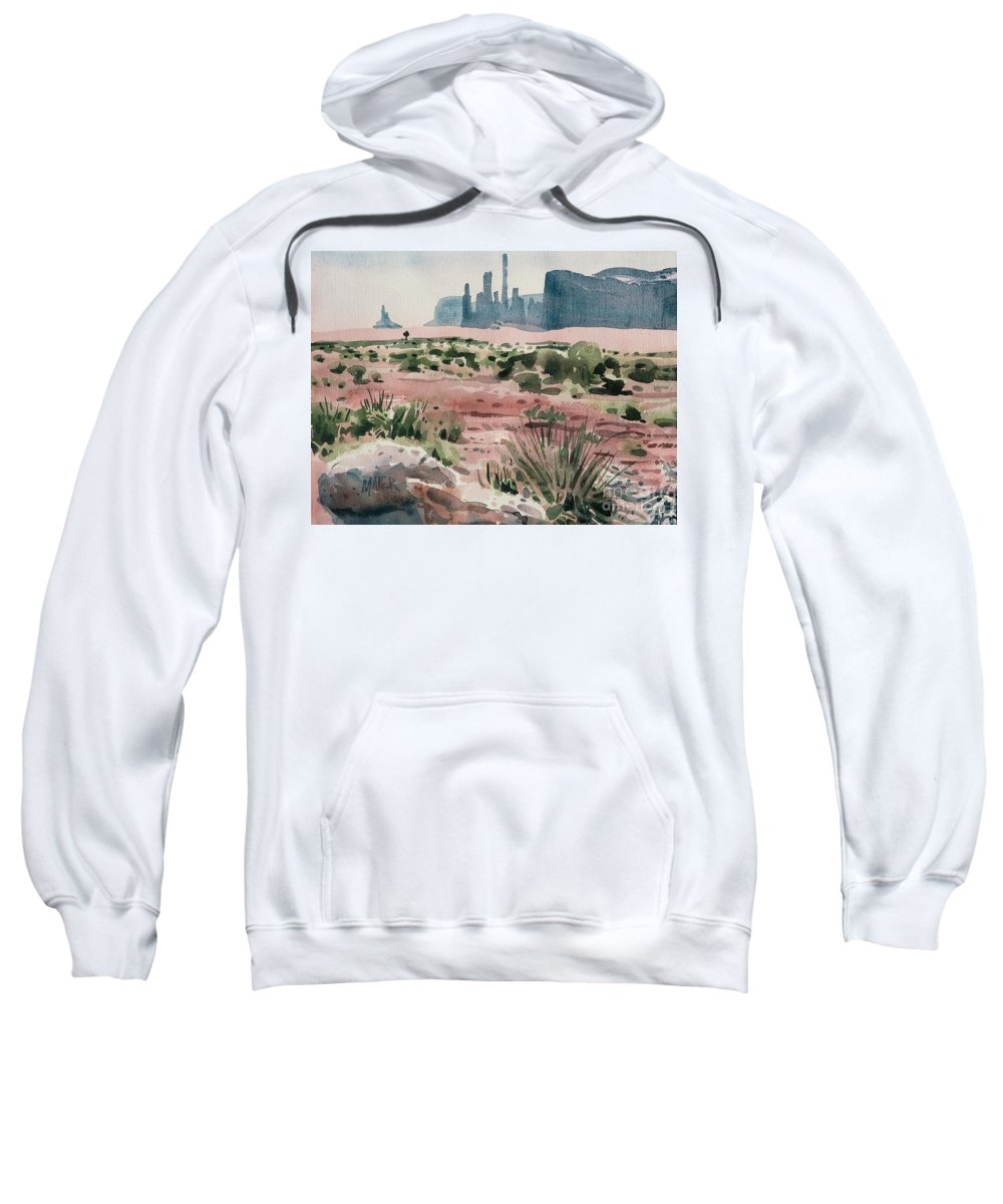 Totem Pole Sweatshirt featuring the painting Totem Pole by Donald Maier