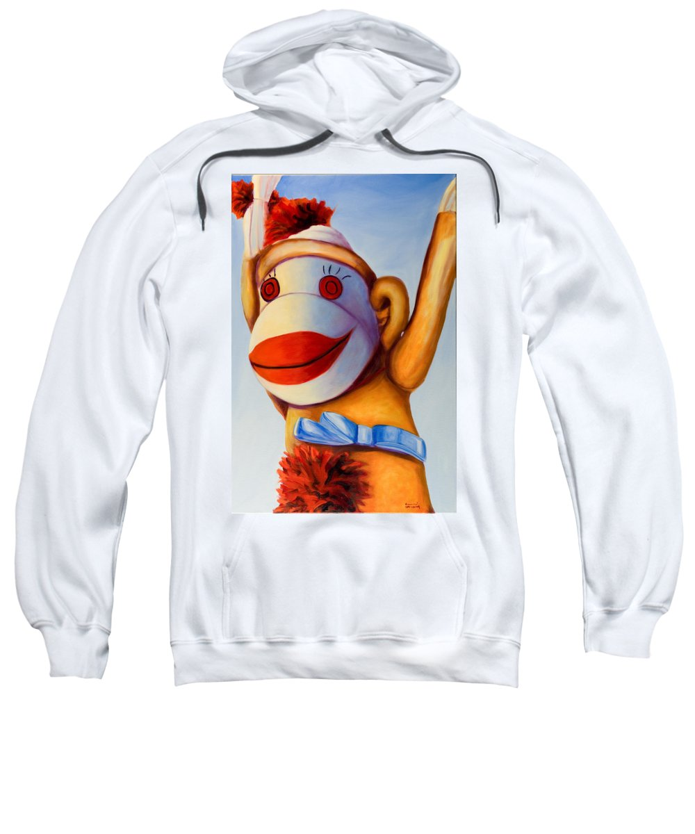 Children Sweatshirt featuring the painting Touchdown by Shannon Grissom