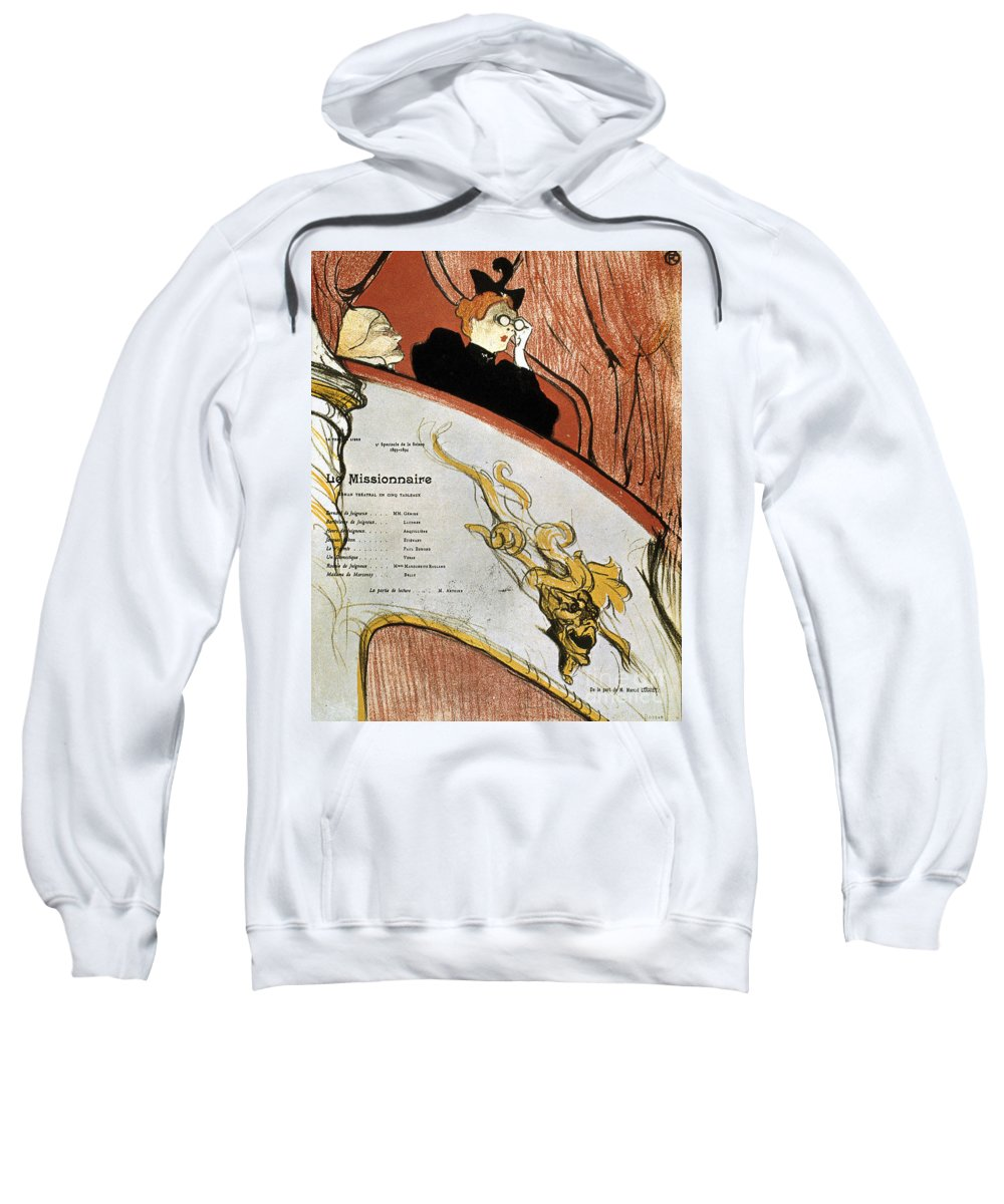 1893 Sweatshirt featuring the photograph Toulouse-lautrec, 1893 by Granger
