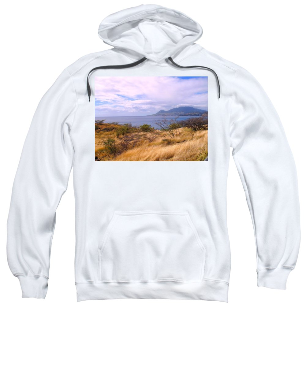 St Kitts Sweatshirt featuring the photograph Towards Basseterre by Ian MacDonald