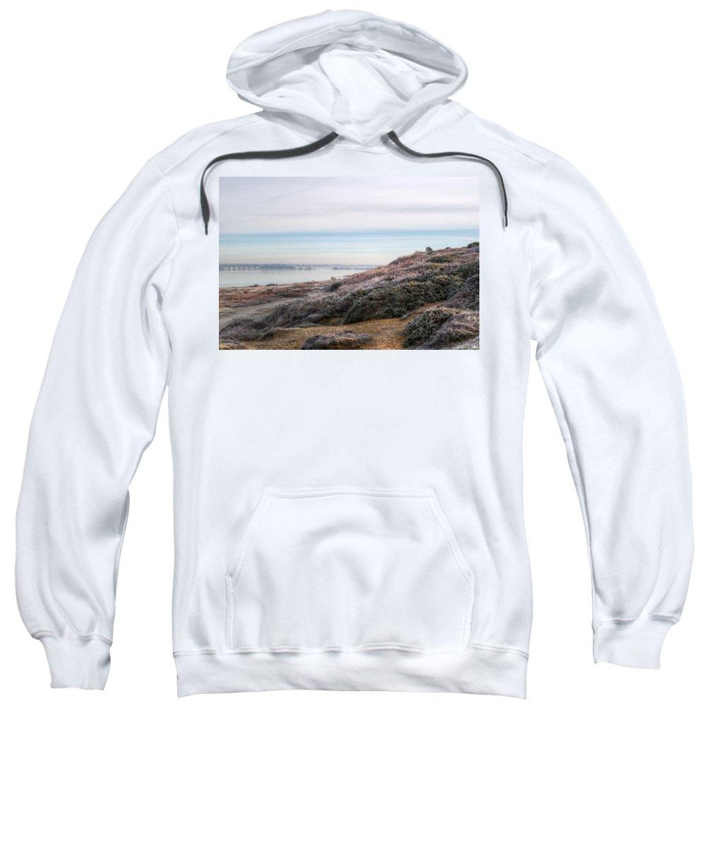 Mudeford Sweatshirt featuring the photograph Towards Mudeford by Chris Day