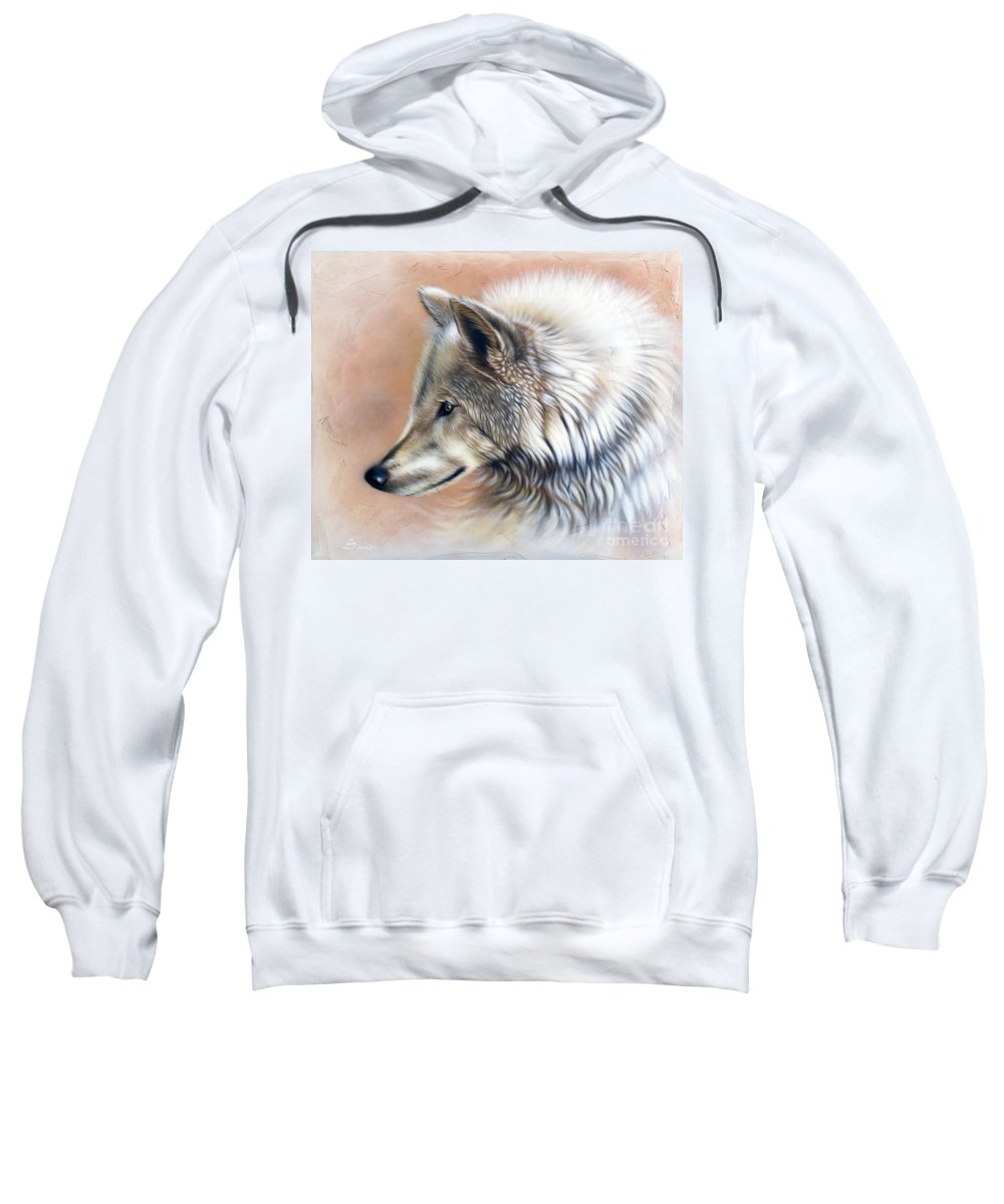 Wolves Sweatshirt featuring the painting Trace IIi by Sandi Baker