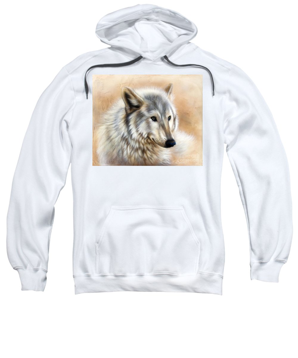 Acrylic Sweatshirt featuring the painting Trace by Sandi Baker