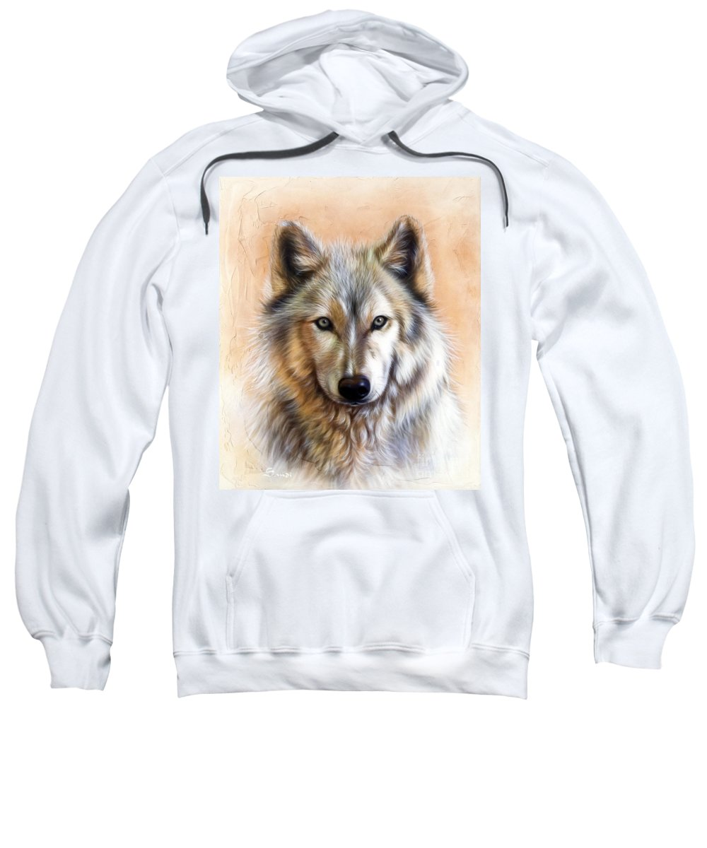 Wolves Sweatshirt featuring the painting Trace Two by Sandi Baker