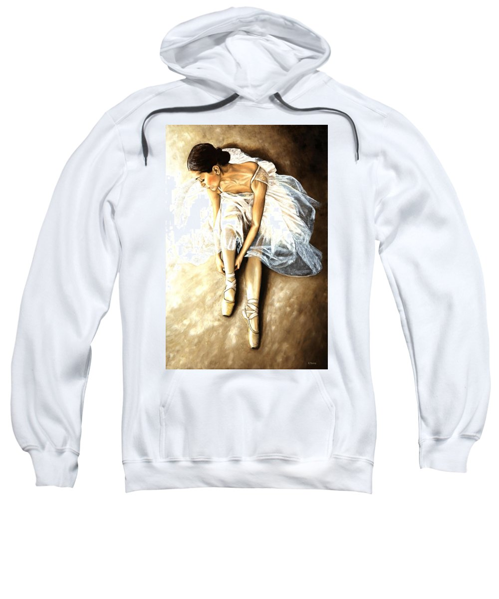 Ballet Sweatshirt featuring the painting Tranquil Preparation by Richard Young