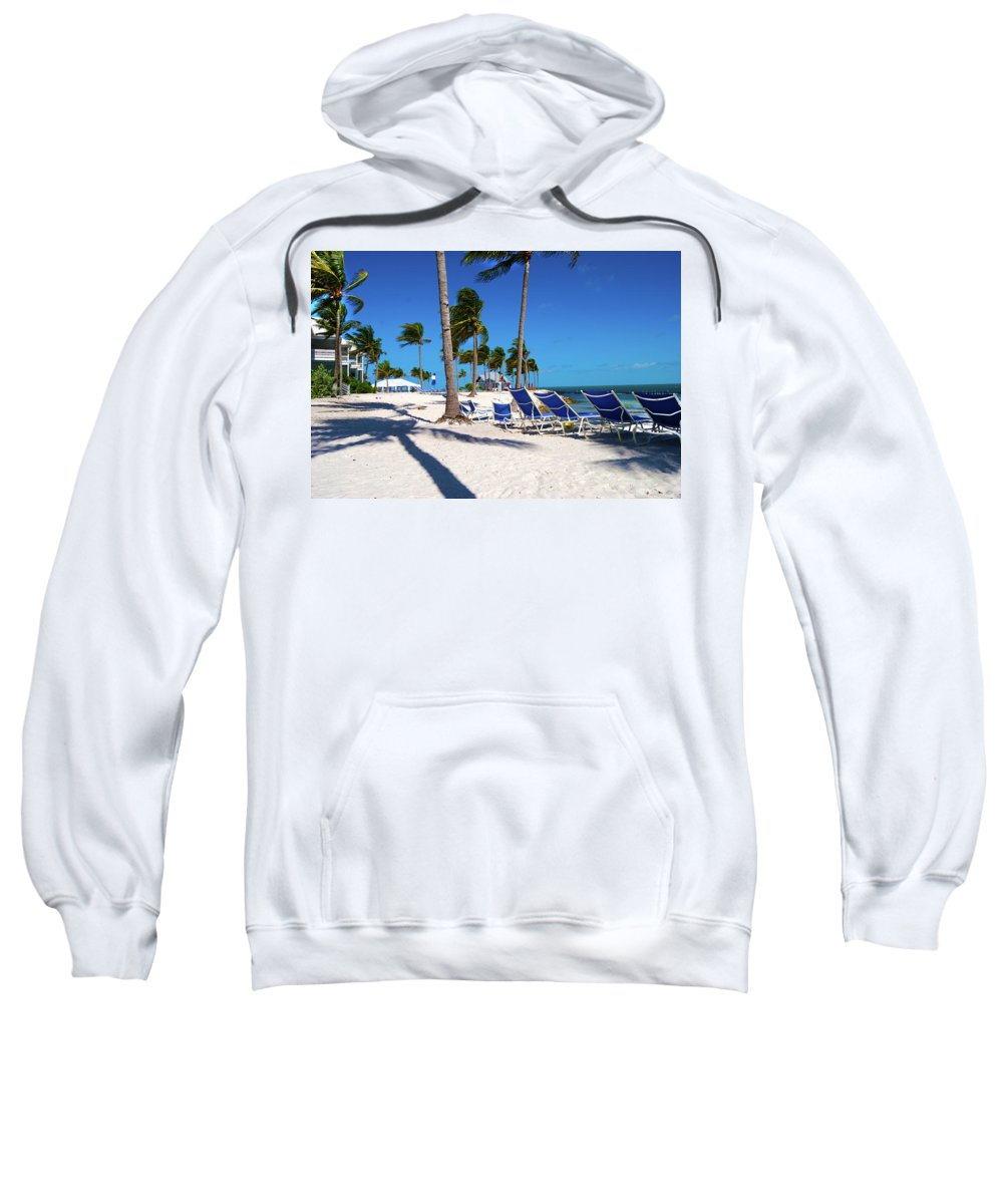 Tree Sweatshirt featuring the photograph Tranquility Bay Beach Paradise by Randy Aveille