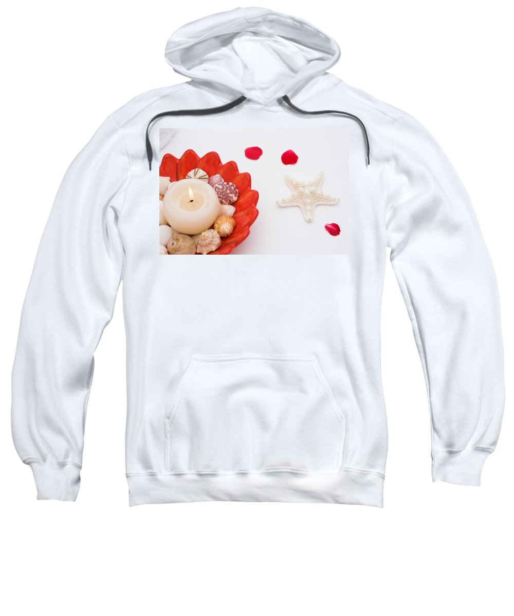 Shell Sweatshirt featuring the photograph Tranquility by Diane Macdonald